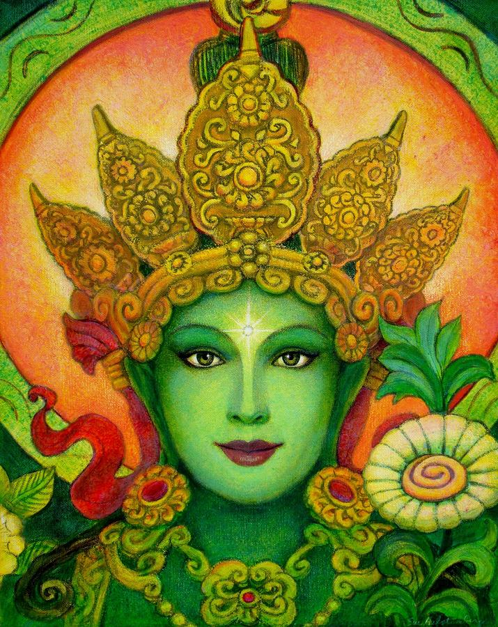 Solar Eclipse Green Tara